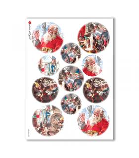 CHRISTMAS-0052. Papel de Arroz Navidad para decoupage.