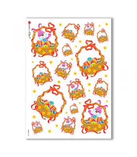 HOLIDAY-0020. Carta di riso festività per decoupage.