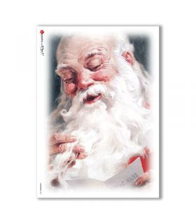 CHRISTMAS-0053. Carta di riso Natale per decoupage.