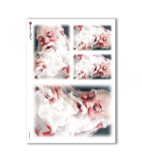CHRISTMAS-0054. Carta di riso Natale per decoupage.