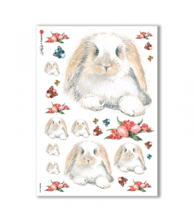 HOLIDAY-0032. Carta di riso festività per decoupage.