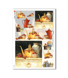 FOOD-0078. Carta di riso cucina per decoupage.