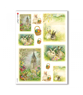 HOLIDAY-0036. Carta di riso festività per decoupage.