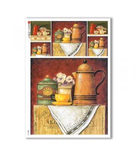 FOOD-0081. Carta di riso cucina per decoupage.