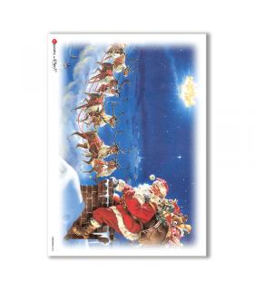 CHRISTMAS-0056. Papel de Arroz Navidad para decoupage.