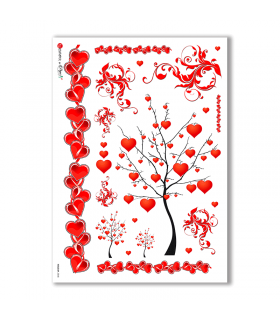 HOLIDAY-0048. Carta di riso festività per decoupage.