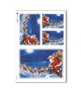 CHRISTMAS-0057. Carta di riso Natale per decoupage.