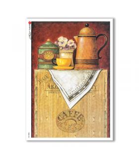 FOOD-0082. Carta di riso cucina per decoupage.