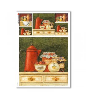 FOOD-0083. Carta di riso cucina per decoupage.