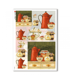 FOOD-0084. Carta di riso cucina per decoupage.