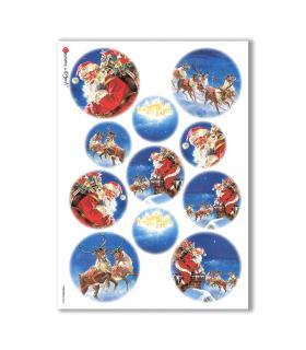 CHRISTMAS-0058. Papel de Arroz Navidad para decoupage.