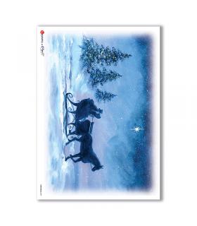 CHRISTMAS-0059. Christmas Rice Paper for decoupage.