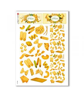 FOOD-0099. Carta di riso cucina per decoupage.