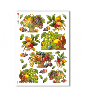 FOOD-0108. Carta di riso cucina per decoupage.