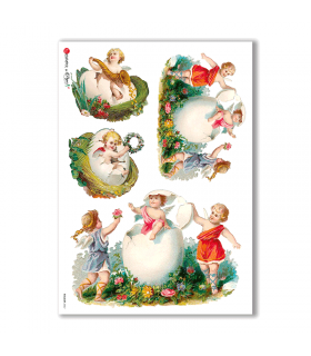 HOLIDAY-0067. Carta di riso festività per decoupage.