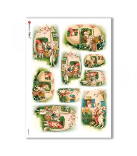 HOLIDAY-0071. Carta di riso festività per decoupage.
