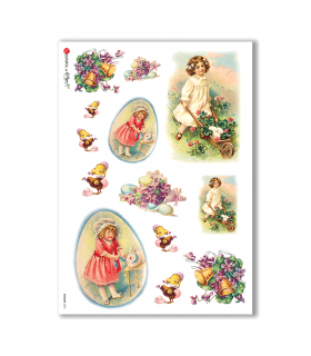 HOLIDAY-0074. Carta di riso festività per decoupage.