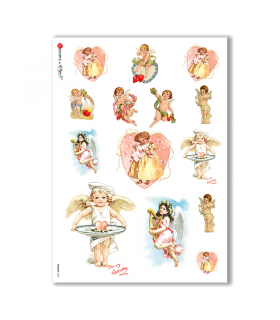 HOLIDAY-0079. Carta di riso festività per decoupage.