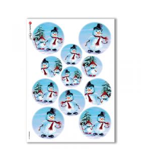 CHRISTMAS-0067. Carta di riso Natale per decoupage.