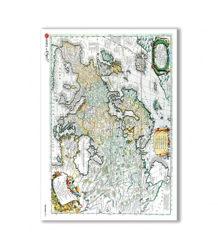 Old maps Rice Paper for decoupage