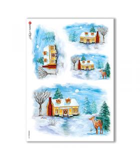 CHRISTMAS-0069. Carta di riso Natale per decoupage.