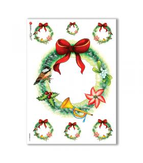 CHRISTMAS-0071. Papel de Arroz Navidad para decoupage.