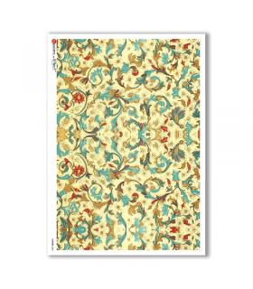 PATTERN-0043. Carta di riso texture per decoupage.