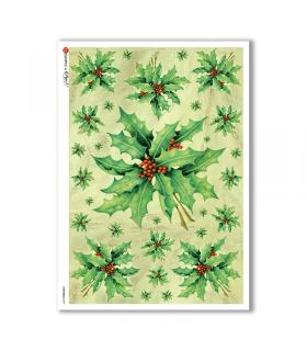 CHRISTMAS-0079. Carta di riso Natale per decoupage.