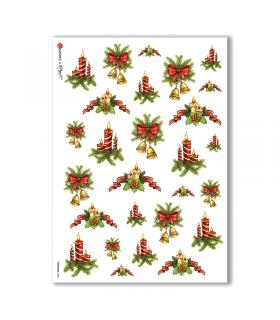 CHRISTMAS-0080. Carta di riso Natale per decoupage.