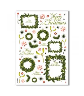 CHRISTMAS-0082. Carta di riso Natale per decoupage.