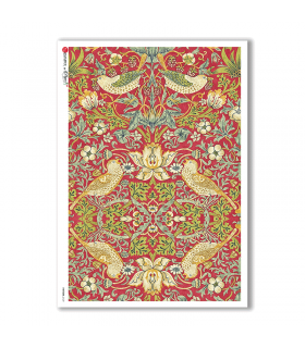 PATTERN-0129. Carta di riso texture per decoupage.