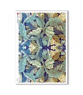 PATTERN-0131. Carta di riso texture per decoupage.