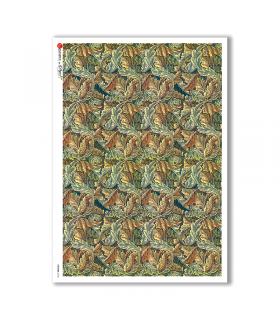 PATTERN-0134. Carta di riso texture per decoupage.