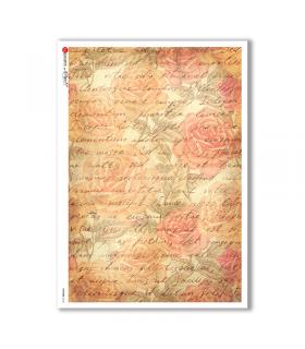 PATTERN-0135. Carta di riso texture per decoupage.