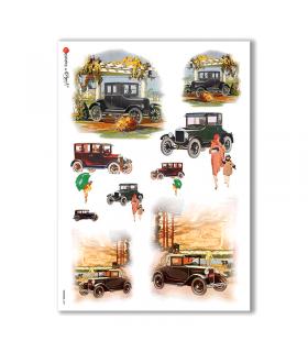 VEHICLES-0001. Carta di riso veicoli per decoupage.