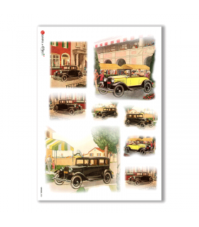 VEHICLES-0003. Vehicles Rice Paper for decoupage.
