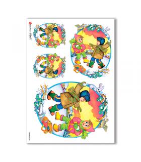 CHRISTMAS-0088. Carta di riso Natale per decoupage.