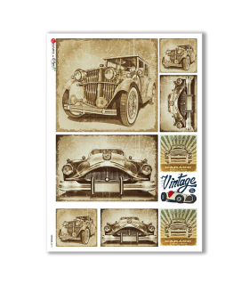 VEHICLES-0015. Vehicles Rice Paper for decoupage.