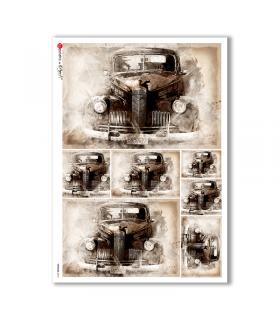 VEHICLES-0018. Carta di riso veicoli per decoupage.