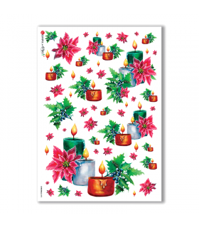 CHRISTMAS-0092. Carta di riso Natale per decoupage.