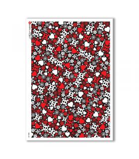 SKULL-0001. Skull Rice Paper for decoupage.