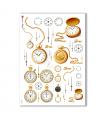 TIME-0002. Carta di riso orologi per decoupage.