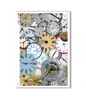 TIME-0005. Watches Rice paper  for the decoupage.