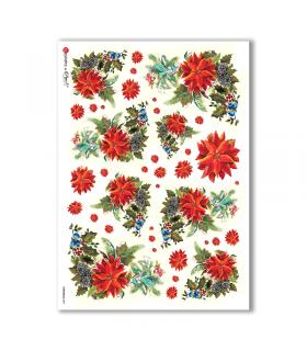 CHRISTMAS-0094. Carta di riso Natale per decoupage.