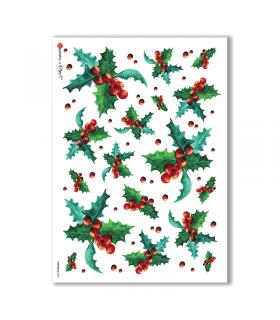 CHRISTMAS-0095. Carta di riso Natale per decoupage.
