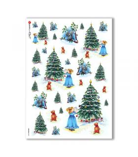 CHRISTMAS-0097. Papel de Arroz Navidad para decoupage.