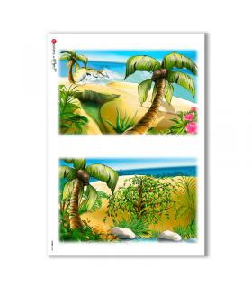 VIEWS-0020. Landscape Rice paper  for the decoupage.