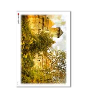 VIEWS-0028. Carta di riso paesaggi per decoupage.