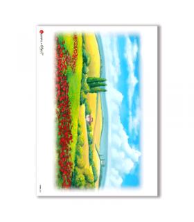 VIEWS-0032. Landscape Rice paper  for the decoupage.