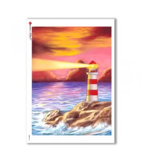 VIEWS-0035. Carta di Riso paesaggi per decoupage